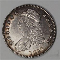 1817 BUST HALF DOLLAR. SOLID AU.
