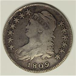 1809 BUST HALF DOLLAR F-VF