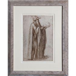 Michelangelo, Un Filosofo, Disegni di Michelangelo, Lithograph