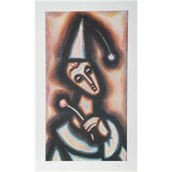 Samuel Ducshi, The Jester, Lithograph