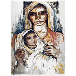 Jorge Dumas, Mother and Child, Lithograph
