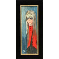 Pierre Durrieu, Boy, Oil Painting