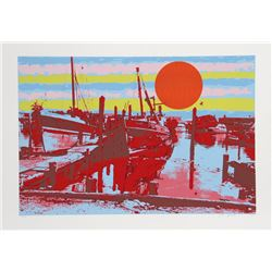 Max Epstein, Freeport Fishing Boats, Serigraph
