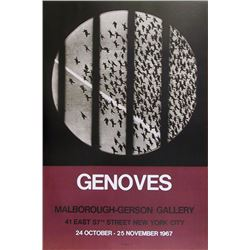 Juan Genoves, Marlborough - Gerson Gallery, Poster