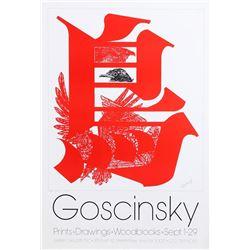 Mike Goscinsky, Many Birds Exhibition, Silkscreen Poster