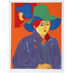 John Grillo, Blue Hat, Serigraph