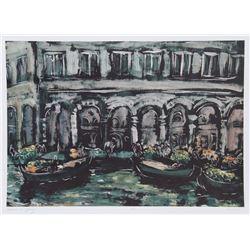 Bogdan Grom, Venice in Spring, Lithograph