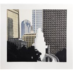 Richard Haas, Dallas Skyline, Aquatint Etching