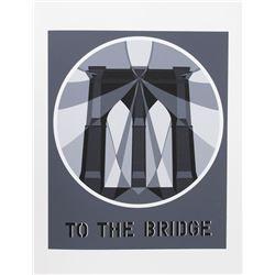 Robert Indiana, To the Bridge from the American Dream Portfolio, Serigraph