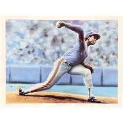 Jack Lane, The Delivery (New York Mets Dwight Gooden), Offset Lithograph