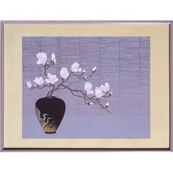 Edward Lee, Vase of Flowers, Serigraph