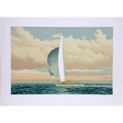 David Lockhart, Sailboat, Lithograph
