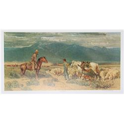 Bob Lougheed, Open Range Encounter, Offset Lithograph