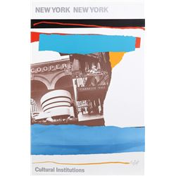 Robert Motherwell, New York, New York - Cultural Institutions, Poster