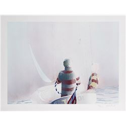 Nils Obel, Sailing in the Mist, Lithograph