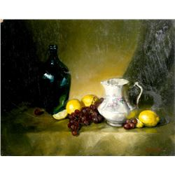 Bart Pass, Lemons, Still Life 2, Oil Painting