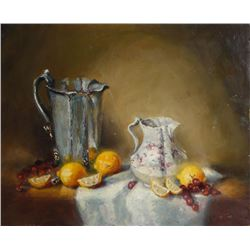 Bart Pass, Oranges, Still Life 2, Oil Painting