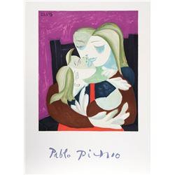 Pablo Picasso, Femme et Enfant Enlaces, Lithograph