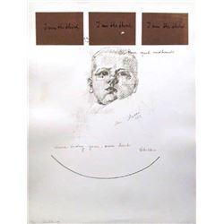Michelangelo Pistoletto, I Am The Third Series #6, Silkscreen