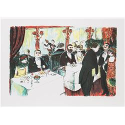 Edward M. Plunkett, Cafe Rouge, Lithograph