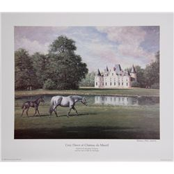 Richard Stone Reeves, Grey Dawn at Chateau du Mesnil, Offset Lithograph