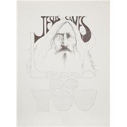 Ramon Santiago, Jesus saves Lennon, do you?, Lithograph Poster