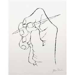 Ben Shahn, The First Word of Verse Arises from the Rilke Portfolio, Lithograph