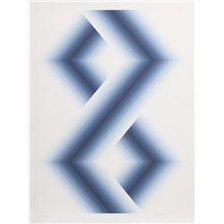 Babe Shapiro, Blue Hexagons, Silkscreen