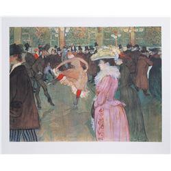 Henri de Toulouse-Lautrec, At the Moulin Rouge: The Dance, Lithograph