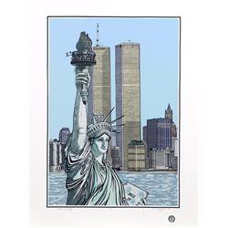 Cindy Wolsfeld, Statue of Liberty, Serigraph