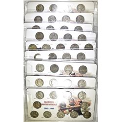10-CIRC SETS OF SILVER JEFFERSON WAR NICKELS