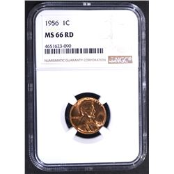 1956 LINCOLN CENT NGC MS-66 RD