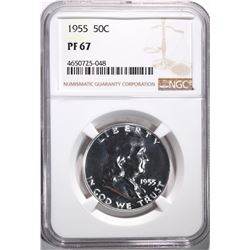 1955 FRANKLIN HALF DOLLAR NGC PF67