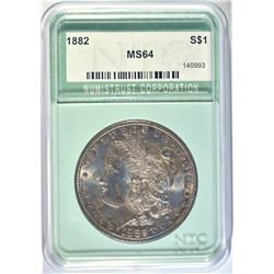 1882 MORGAN DOLLAR NTC CH/GEM BU