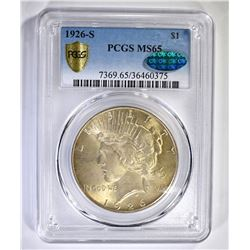 1926-S PEACE DOLLAR, PCGS MS-65 CAC CERTIFIED