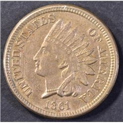 1861 INDIAN CENT, CH BU NICE!