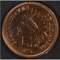 1871 INDIAN CENT, CH BU