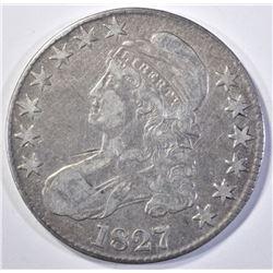 1827 BUST HALF DOLLAR, VF/XF
