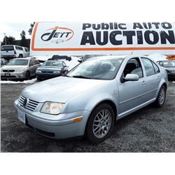 B5 --  2003 VW JETTA  , Grey , 123515  KM's