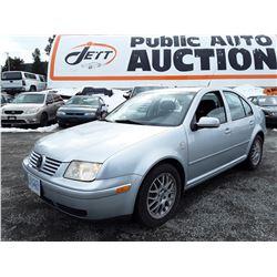 B5 --  2003 VW JETTA  , Grey , 123515  KM's