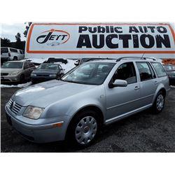A6A --  2006 VW JETTA GLS TDI , Silver , 352719  KM's - No Reserve
