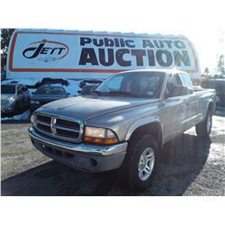 G3 --  2004 DODGE DAKOTA SLT , Grey , 186213  KM's