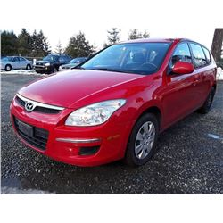 C1 -- 2010 HYUNDAI ELANTRA TOURING GLS WAGON, RED, 122,540 KMS