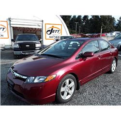 C5 --  2007 HONDA CIVIC EX , Red , 139800  KM's