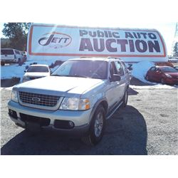D4 --  2004 FORD EXPLORER XLT , Grey , 187602  KM's