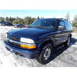 A6 --  2004 CHEV BLAZER SUV, BLUE, 145,679 KMS   No Reserve - Selling to the Highest Bidder