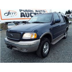 G2 --  2001 FORD EXPEDITION EDDIE BAUER , Blue , 211575  KM'S