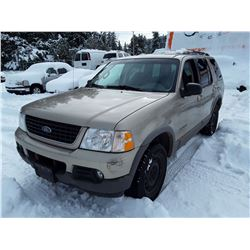 I2 --  2002 FORD EXPLORER XLT , Brown , 220064  KM's