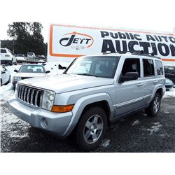 J3 --  2010 JEEP COMMANDER SPORT , Grey , 225727  KM's