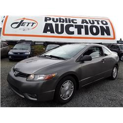 M6 --  2008 HONDA CIVIC , Grey , 164252  KM's